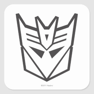 G1 Decepticon Shield Line Square Sticker