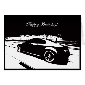 G35 Coupe Car themed Birthday Card