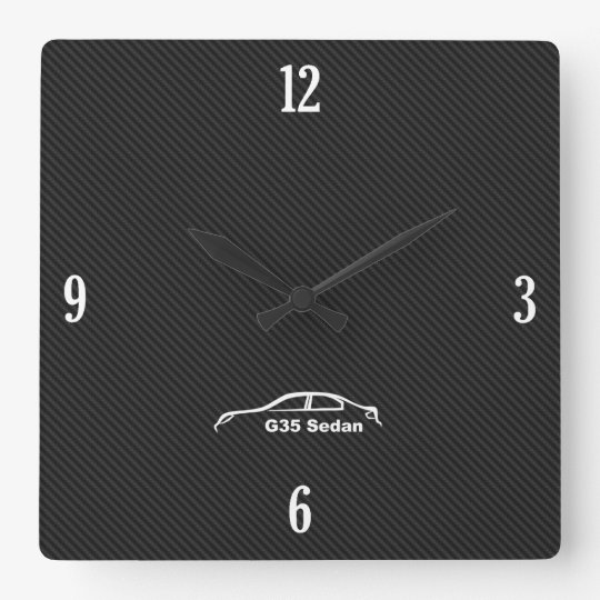 G35 Sedan Brushstroke Logo Clock