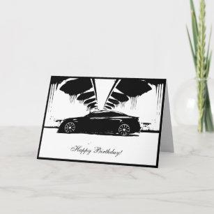 G37 Coupe Car Themed Birthday Card