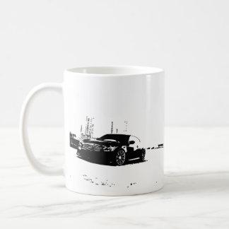 G37 Coupe Side shot with Black Silhouette Logo Coffee Mug
