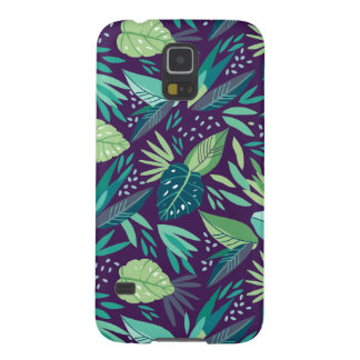 G4 Purple & Green Tones Tropical Pattern. Galaxy S5 Covers