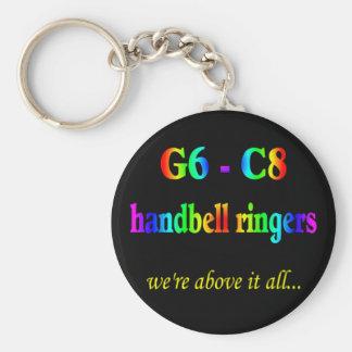 G6-C8 Handbell Ringers Keychain