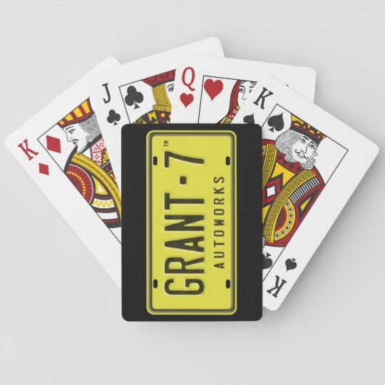 G7 Logo Playing Cards - Black