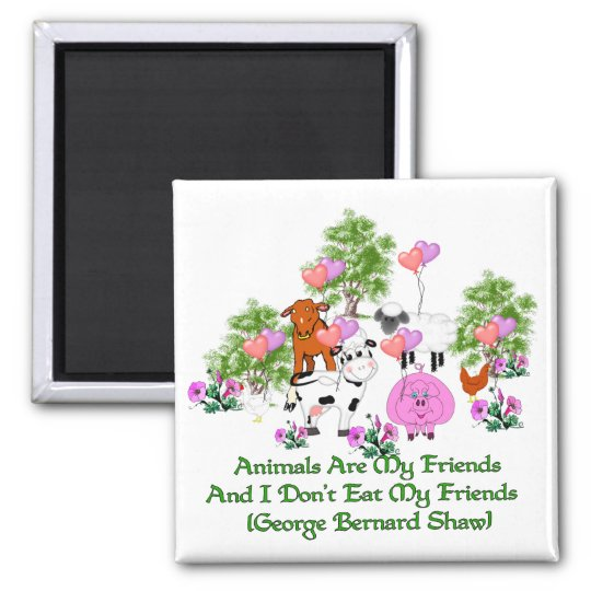 G. B. Shaw Vegetarian Quote Magnet