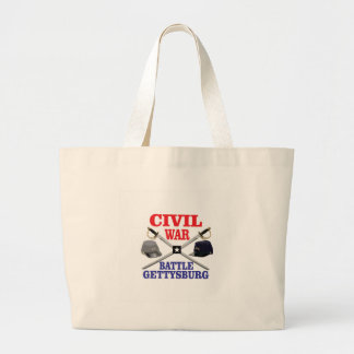 g battle in red blue large tote bag
