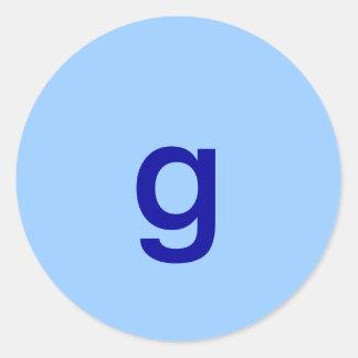 g classic round sticker