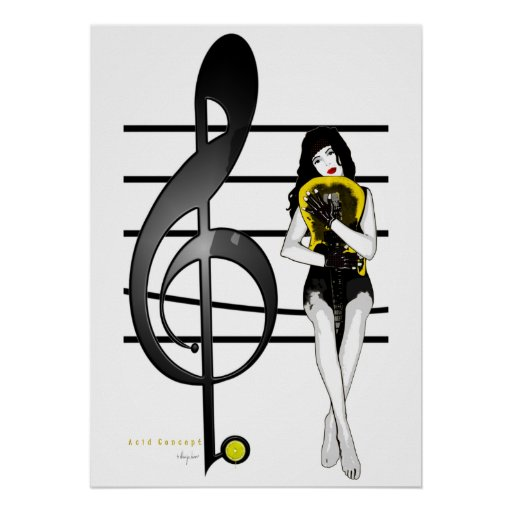 G Clef Poster