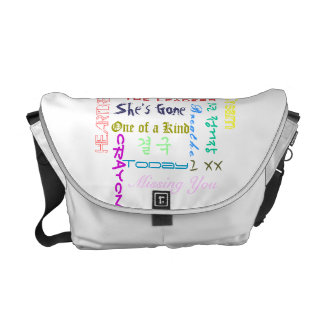 G-Dragon Song Title Typography Messenger Bag