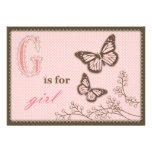 G est pour la carte d'invitation de fille