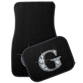"G Faux-""Diamond"" Monogram Floor Mat"