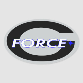 G Force Black Oval Sticker