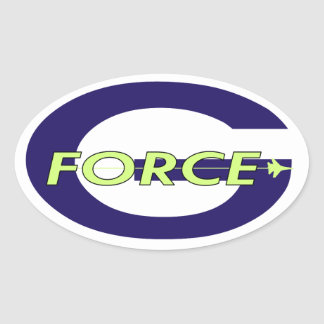 G Force Charger Oval Sticker