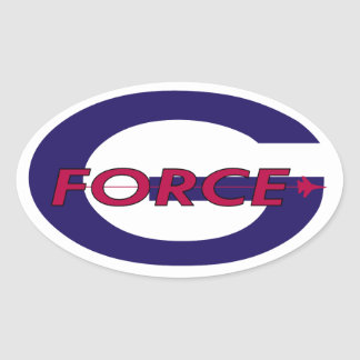 G Force Sol Oval Sticker