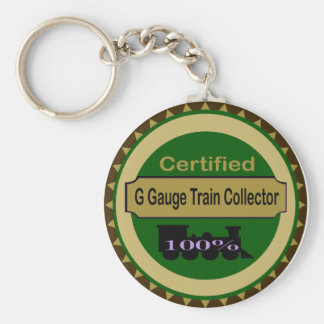 G Gauge Train Collector Keychain