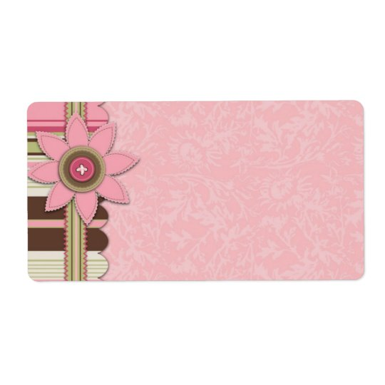 G Girl Name Tag Shipping Label