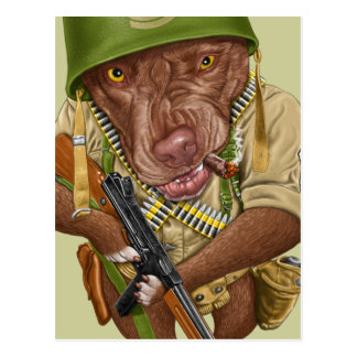 G.I. Pitbull Postcard