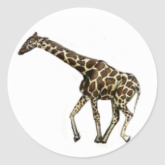 G is for Giraffe Classic Round Sticker