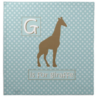 """""""G"""" is for Giraffe Party Napkins"""