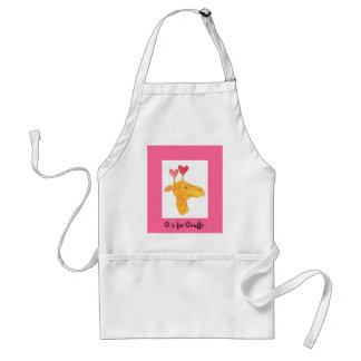 G is for Giraffe Standard Apron