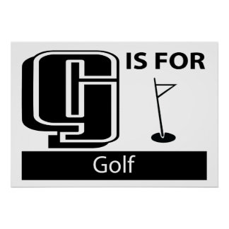 G Is For Golf Poster
