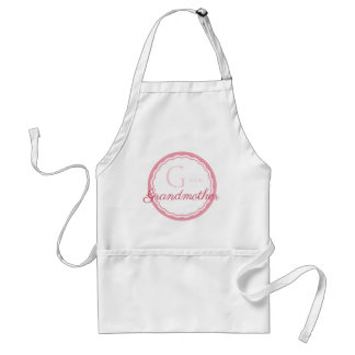 G is for Grandmother Pink Scallop Motif Standard Apron