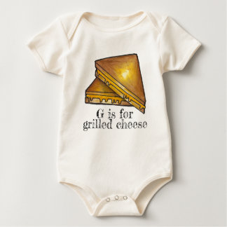 G is for Grilled Cheese Toasted Sandwich Letter G Baby Bodysuit