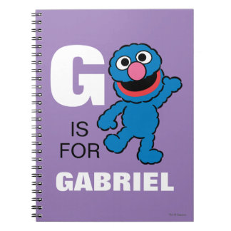 G is for Grover | Add Your Name Spiral Notebooks