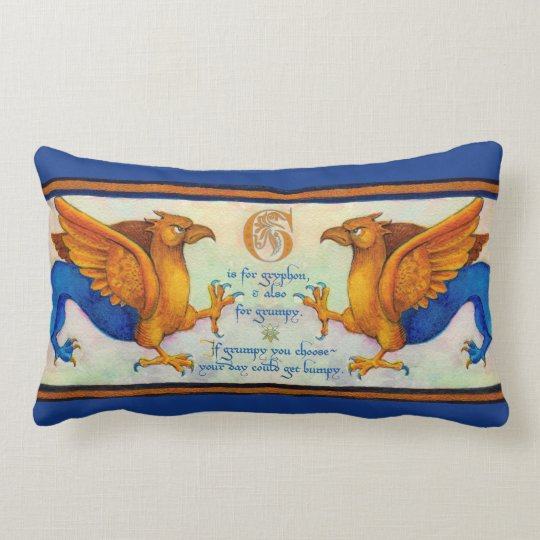 G is for Gryphon Pillow