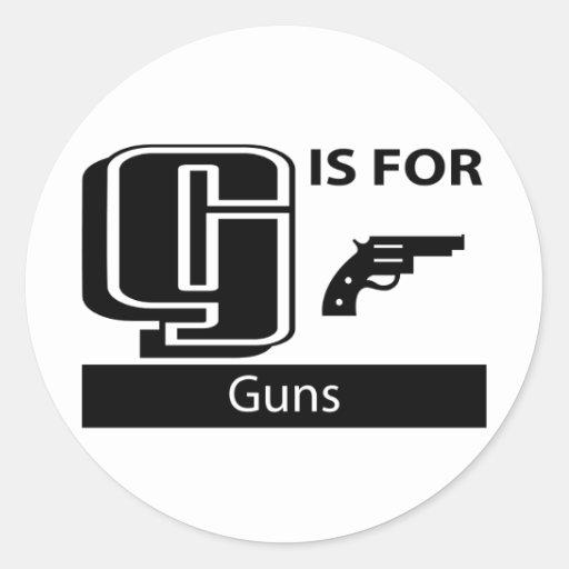 G Is For Guns Sticker