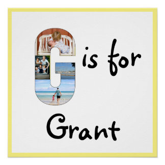 G is for Name Perfect Poster