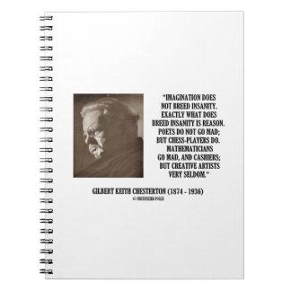 G.K. Chesterton Imagination Insanity Creative Note Book