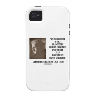 G.K. Chesterton Inconvenience Adventure Considered Vibe iPhone 4 Covers