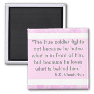 G.K Chesterton Quote Magnet