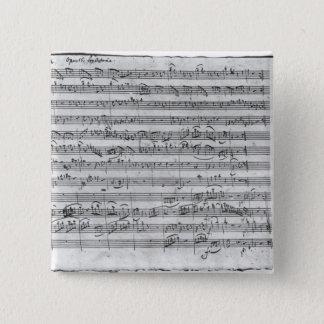 G major for violin, harpsichord and violoncello 3 2 inch square button