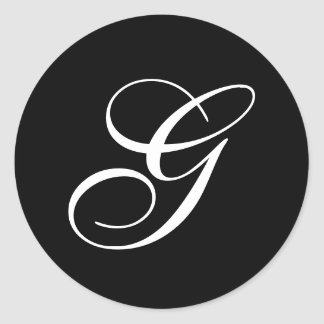 G Monogram Stickers