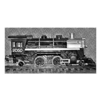 G Scale Model Train Personalized Photo Card