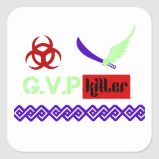 G.V.P killer Merch Square Sticker