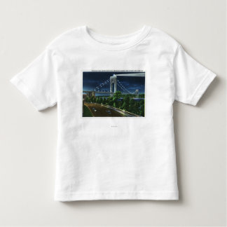 G. Washington Bridge, Hudson at Night Toddler T-shirt
