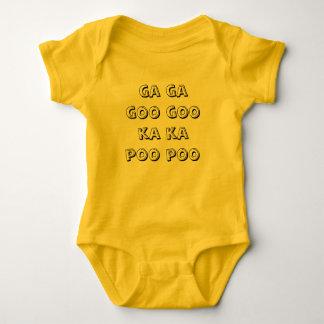 ga ga goo goo ka ka poo poo baby bodysuit