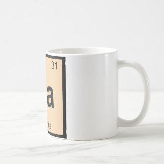 Ga - Granola Chemistry Periodic Table Symbol Classic White Coffee Mug