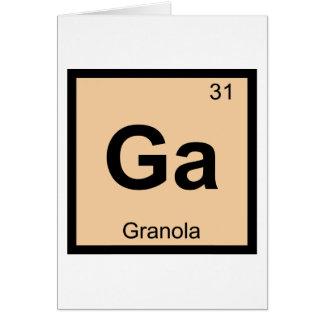 Ga - Granola Chemistry Periodic Table Symbol Greeting Card