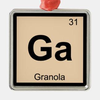 Ga - Granola Chemistry Periodic Table Symbol Metal Ornament