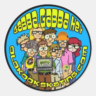 Gabba Gabba Hey Classic Round Sticker