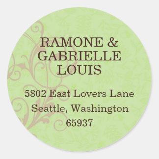 Gabby Address Labels Round Sticker