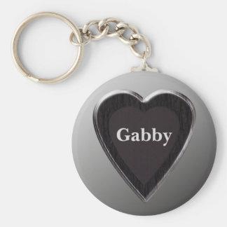 Gabby Heart Keychain by 369MyName