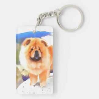 GABBY heARTdog chow Double-Sided Rectangular Acrylic Keychain
