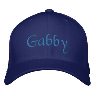 Gabby Personalized Embroidered Baseball Cap Blue
