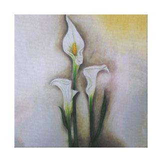 GabbyJavy linen cloth of white cartridge Canvas Print