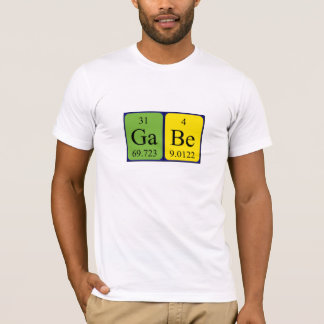 Gabe periodic table name shirt